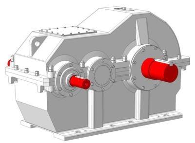 Редуктора ЦДН–630, ЦДН–710 цилиндрические горизонтальные двухступенчатые